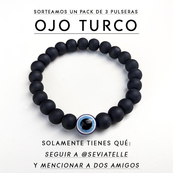 """Participa en el sorteo de 3 pulseras """"OJO TURCO"""", abalorio contra el mal de ojo!"""