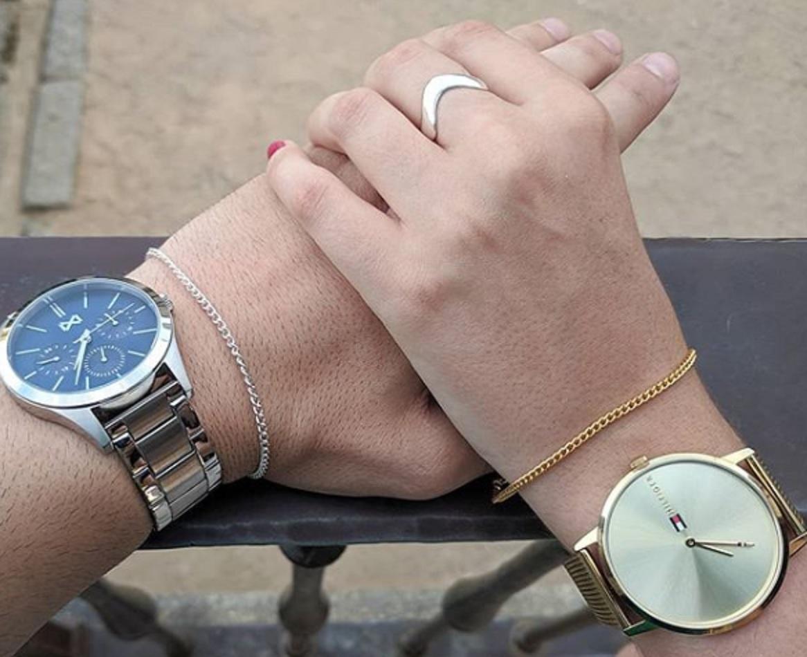 Pulseras de plata para parejas - Pulseras Hombre - Seviatelle