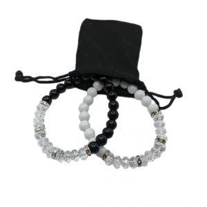Pack Cristal Elegance pulseras de hombre y mujer